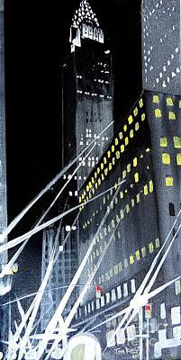 Painting - Chrysler Building At Night by Tom Riggs