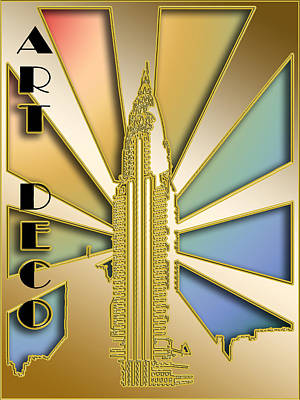 Digital Art - Chrysler Building - Chuck Staley by Chuck Staley