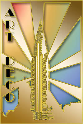 Digital Art - Chrysler Building by Chuck Staley