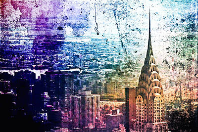 Skylines Photograph - Chrysler Building - Colorful - New York City by Vivienne Gucwa