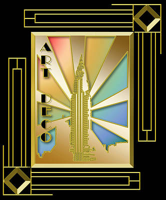 Digital Art - Chrysler Building Frame 5 by Chuck Staley
