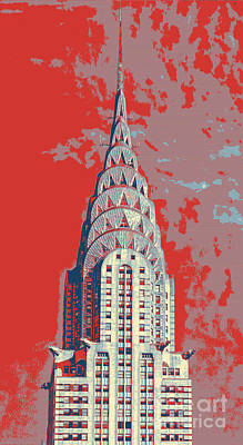 Painting - chrysler building Manhattan NYC by Celestial Images