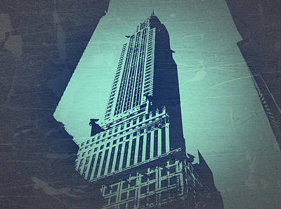 New York Signs Photograph - Chrysler Building  by Naxart Studio