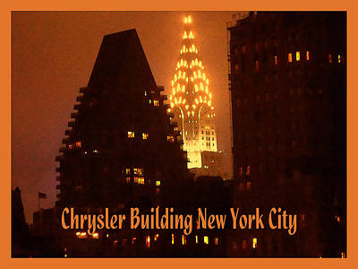 Photograph - Chrysler Building At Night - New York City Poster by Peter Potter
