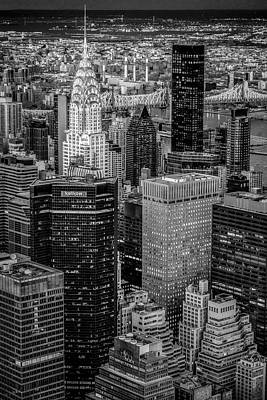 Photograph - Chrysler Building Nyc Bw by Susan Candelario