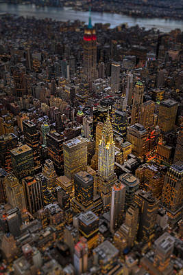 Aerials Photograph - Chrysler Building Nyc Skyline by Susan Candelario