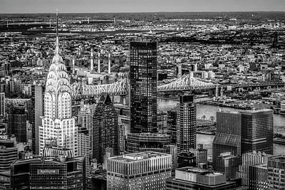 Photograph - Chrysler Building Nyc Sunset Bw by Susan Candelario