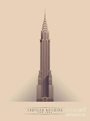 Chrysler Wall Art - Digital Art - Chrysler Building - Vintage Light by Ivan Krpan