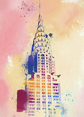 Painting - Chrysler Building Watercolor by Dan Sproul