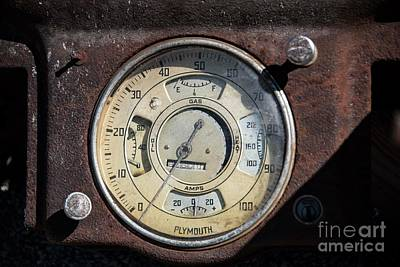 Photograph - Plymouth Dashboard by David Bearden