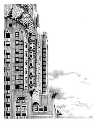 Chrysler Building Drawing - Chrysler by Greg DiNapoli