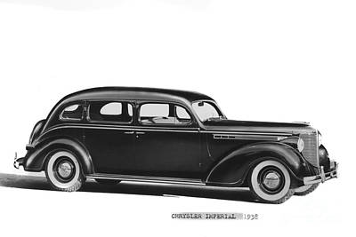 Photograph - Chrysler Imperial 1938 by California Views Archives Mr Pat Hathaway Archives