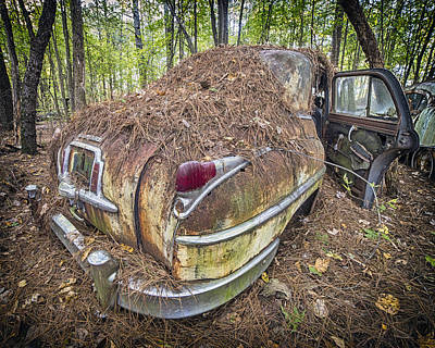 Photograph - Chrysler In Decay by Alan Raasch