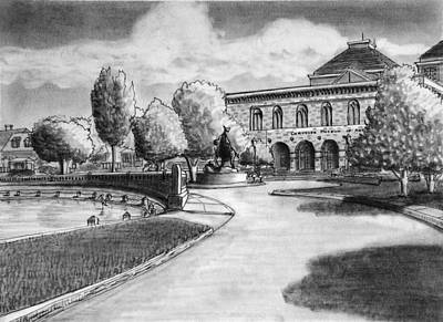 Chrysler Museum Norfolk Art Print by Vic Delnore