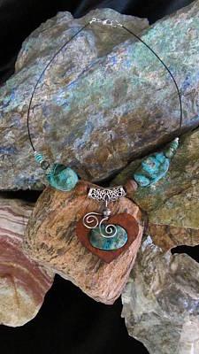 Jewelry - Chrysocolla And Malachite #h46 by Barbara Prestridge