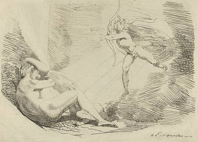 Relief - Chrysogone Conceives, In A Ray Of Sunshine, Amoretta And Belphoebe  by Henry Fuseli