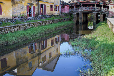 Art Print featuring the photograph Chua Cau Reflection by Hitendra SINKAR