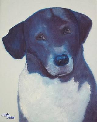 Soulful Eyes Painting - Chubbs by Judy Jones