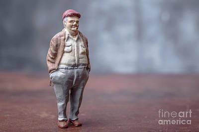 Chubby Man Smoking A Cigar Art Print