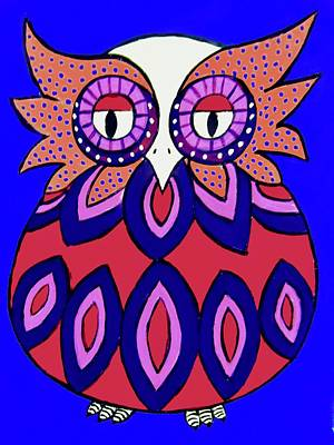 Painting - Chubby Owl by Stephanie Moore