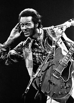 Perform Photograph - Chuck Berry 1973 by Chris Walter