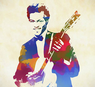 Chuck Berry Wall Art - Painting - Chuck Berry by Dan Sproul