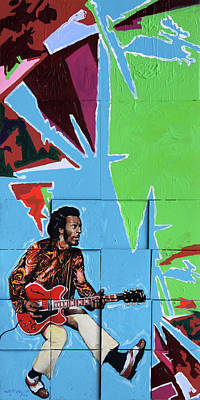 Painting - Chuck Berry by John Lautermilch