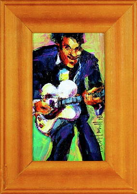 Painting - Chuck Berry by Les Leffingwell