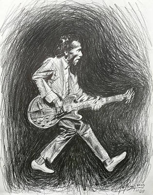 Drawing - Chuck Berry by Michael Morgan