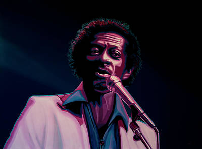 Gibson Painting - Chuck Berry by Paul Meijering