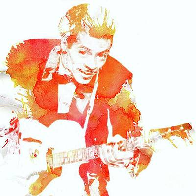 Music Paintings - Chuck Berry Pop Art by Esoterica Art Agency