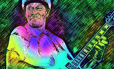 Elvis Painting - Chuck Berry R I P  by Enki Art