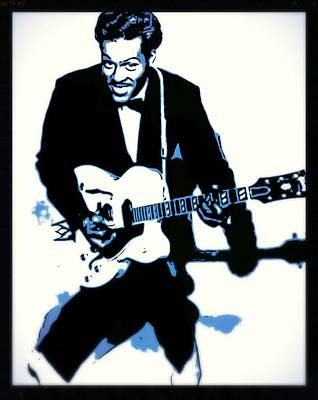 Musicians Royalty Free Images - Chuck Berry Rock n Roll Royalty-Free Image by Esoterica Art Agency