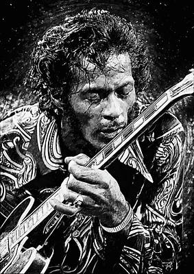 Rhythm And Blues Digital Art - Chuck Berry by Taylan Apukovska