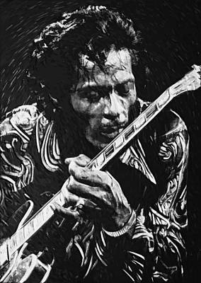 Chuck Berry Digital Art - Chuck Berry by Taylan Apukovska