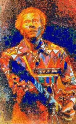 Digital Art - Chuck Berry Tribute by Caito Junqueira