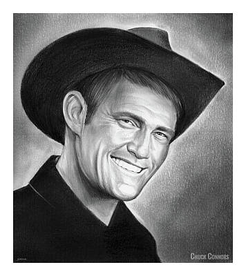 Drawings - Chuck Connors by Greg Joens