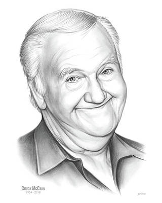 Drawing - Chuck Mccann by Greg Joens