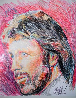Chuck Norris Drawing - Chuck Norris  by Jon Baldwin  Art