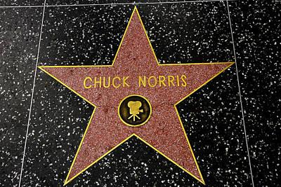 Chuck Norris Photograph - Chuck Norris Star by Robert Hebert
