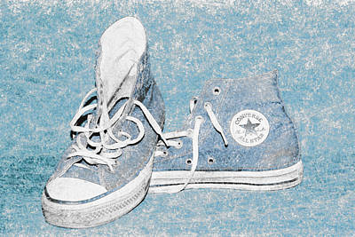 Converse Digital Art - Chuck Taylors by David Stasiak