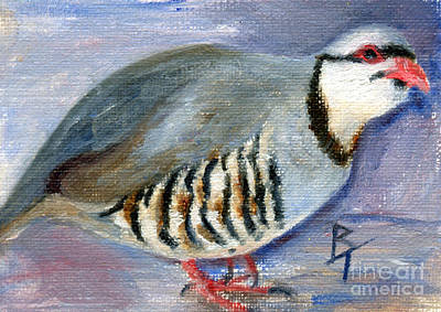 Painting - Chuck The Chukar by Brenda Thour