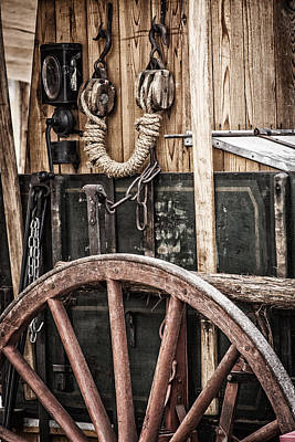 Cattle Drive Photograph - Chuck Wagon by David Wagner