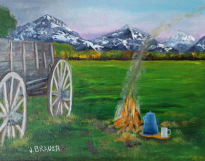 Painting - Chuck Wagon by Jack G  Brauer