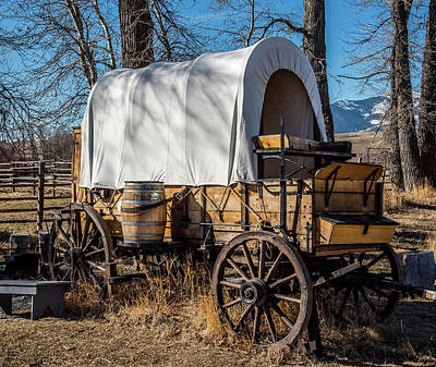 Cattle Drive Photograph - Chuck Wagon by Paul Freidlund