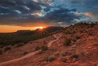 Photograph - Chuck Wagon Sedona Sunset  by Chris Whiton