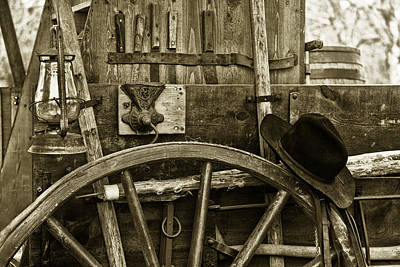 Wheel Thrown Photograph - Chuck Wagon Tools Of The Trade by Toni Hopper