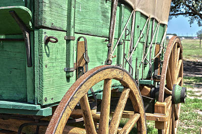 Photograph - Chuck Wagon Wheels by James Woody