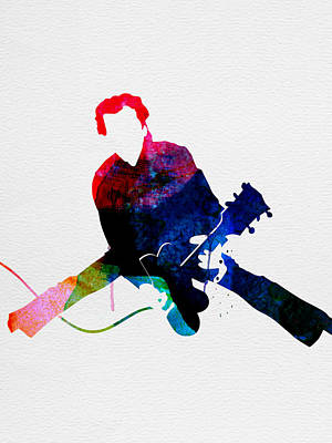 Chuck Watercolor Art Print by Naxart Studio