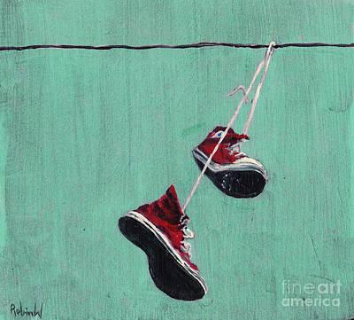 Chucks Painting - Chucked by Robin Wiesneth